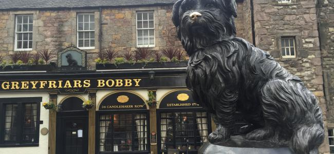 Grey Friars Bobby near to Grassmarket